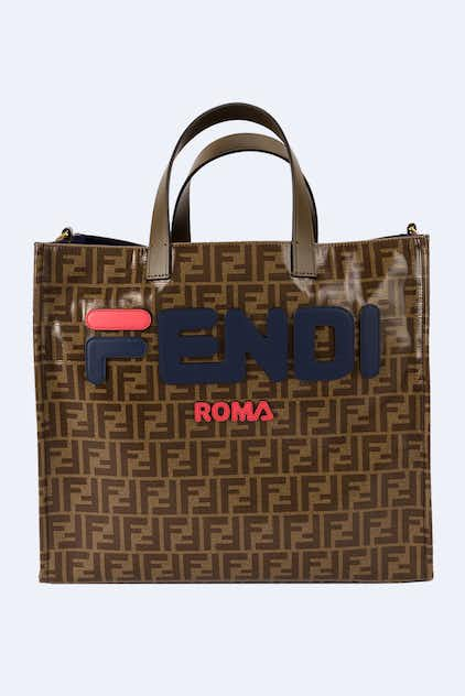 Sac motif FF marron Shopping 5ce7a73e2ba