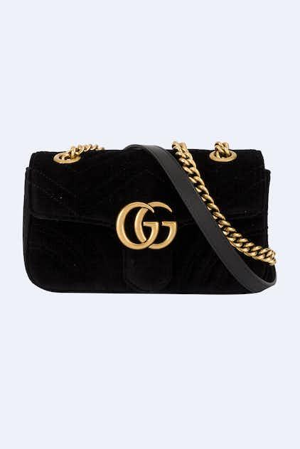 e00444b2292 Gucci. GG Marmont black velvet mini bag. Astrofashion Miniature